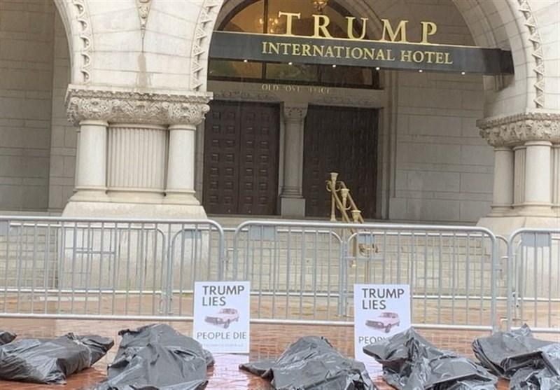 تجمع آمریکایی ها در اعتراض به نحوه مدیریت بحران کرونا